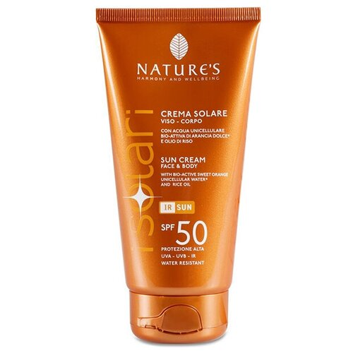 Купить Крем с высокой степенью защиты SPF 50 для загара на солнце для лица и тела - Nature's - Sun Cream SPF 50 150 мл.