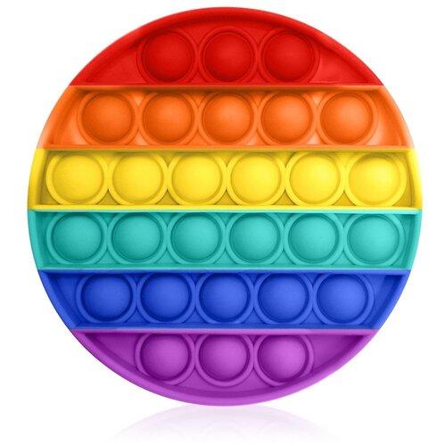 Антистресс игрушка Goodly Pop It, 28 пузырьков, вечная пупырка, успокоительная, сенсорная тактильная игра, Радужный круг