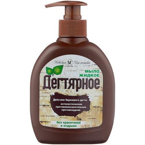 Жидкое мыло Невская Косметика Дегтярное для рук и тела, 300 мл
