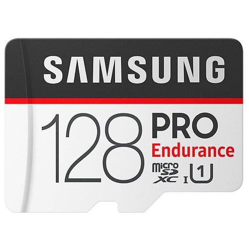 Фото - Карта памяти Samsung microSDXC PRO Endurance UHS-I U1 100MB/s 128GB + SD adapter карта памяти kingston high endurance microsdxc 128gb class10 sdce 128gb
