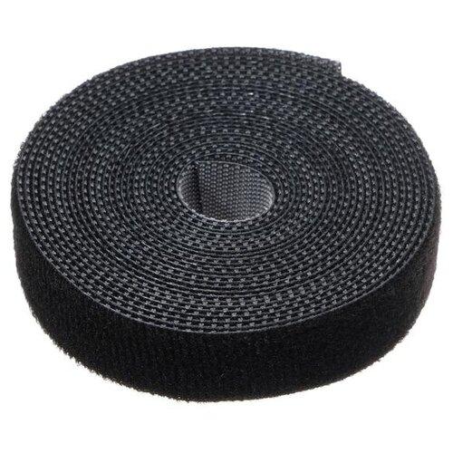 Лента-липучка для стяжки проводов 1 шт 300*15 см черная 5161557
