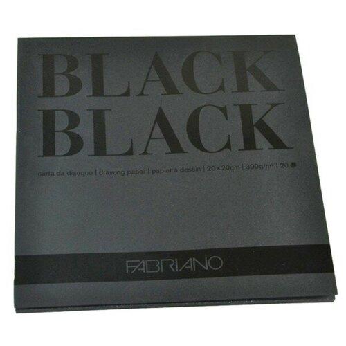 Фото - Альбом для графики Fabriano BlackBlack 20 х 20 см, 300 г/м², 20 л. альбом для акварели fabriano watercolour 300 г м2 а6 10 5 х 14 8 см склейка с одной стороны 20 л
