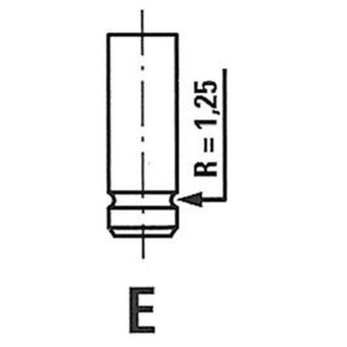 Впускной клапан Freccia R4874/S для Renault Espace III, Laguna I