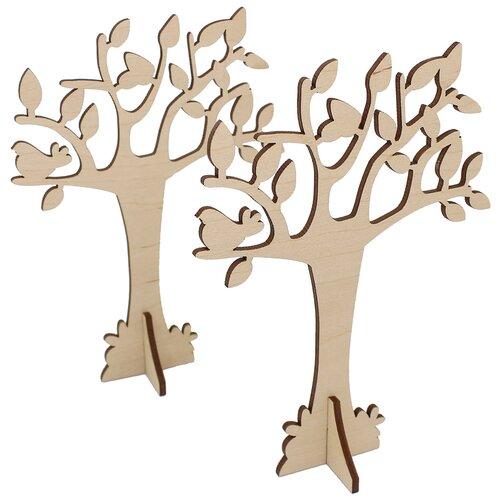 Купить Astra & Craft Деревянная заготовка для декорирования Дерево L-714 (2 шт.) бежевый, Декоративные элементы и материалы