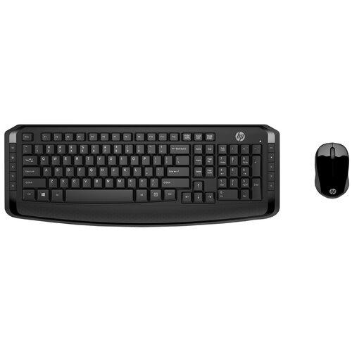 Клавиатура и мышь HP 3ML04AA Wireless Keyboard and Mouse 300 Black USB
