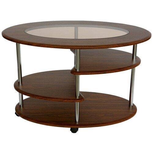 Столик журнальный Калифорния мебель Эллипс СЖС-01, ДхШ: 90 х 60 см, орех недорого