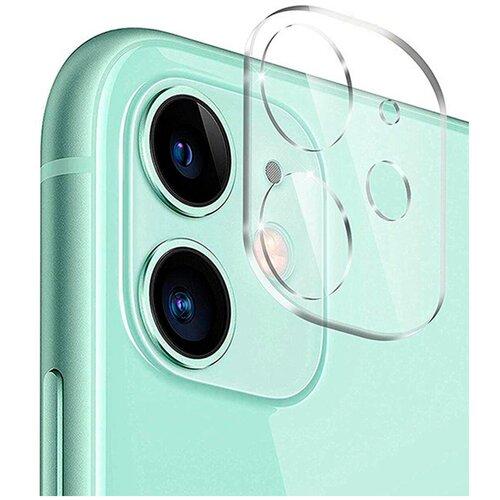 Противоударное стекло для защиты задней камеры Apple iPhone 11 и iPhone 12 mini / Защитное стекло на камеру Эпл Айфон 11 и Айфон 12 Мини (Прозрачный)