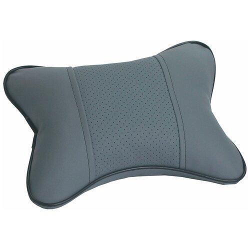 Подушка автомобильная Dollex PGL-2130 под шею 300*210 мм, экокожа, светло-серая
