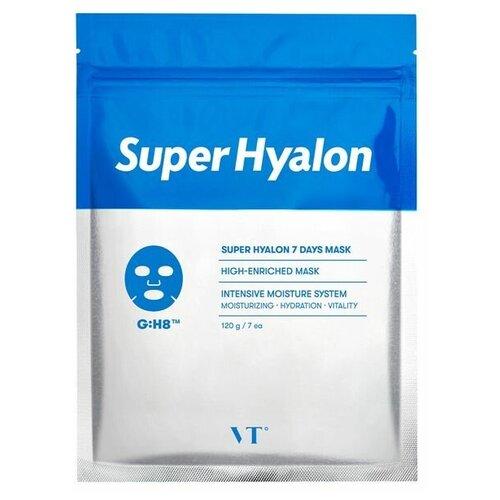 Купить Набор тканевых масок с 8 видами гиалуроновой кислоты VT Cosmetics Super Hyalon 7 Days Mask