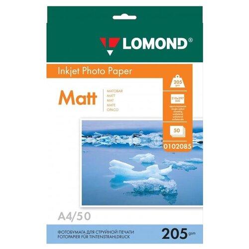 Фото - Бумага Lomond A4 Photo Paper 0102085 205 г/м² 50 лист., белый бумага lomond a4 photo paper 0102003 120 г м² 100 лист белый