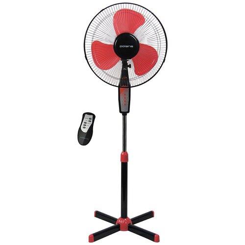 Напольный вентилятор Polaris PSF 0140RC, черный/красный