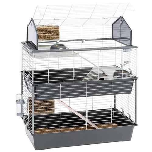 Клетка для коликов и морских свинок Ferplast Barn 100 Double, серый, 95*57*121 см