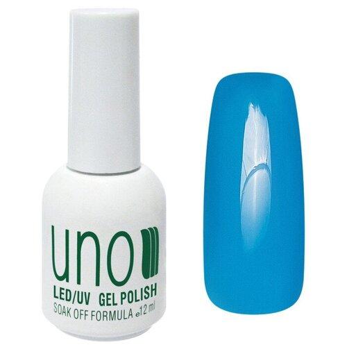 Купить Гель-лак для ногтей UNO Color Классические оттенки, 12 мл, 268 Электрический голубой