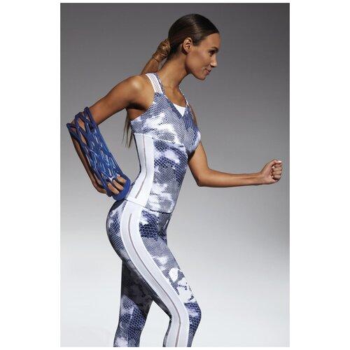 Bas Bleu Майка для фитнеса Code, белый с синим, L