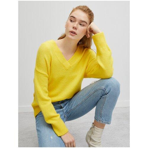 Пуловер KOTON, размер M(38), 151 желтый