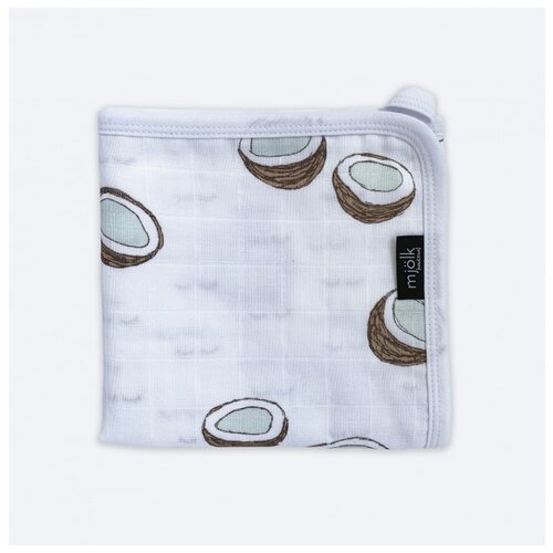 Купить Одеяло Mjolk Одеяло Кокосы 80х80 белый/коричневый/голубой, Покрывала, подушки, одеяла