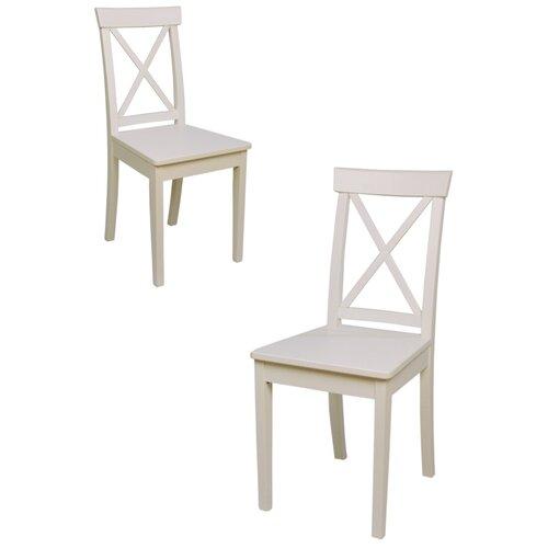 Комплект кухонных стульев (2 шт.), СтолБери, Марита, деревянный, эмаль слоновая кость, жесткая спинка
