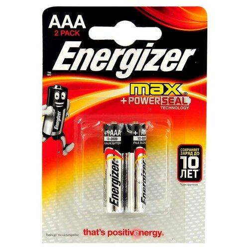 Фото - ENERGIZER Батарейки ENERGIZER MAX AAA 1.5V 2 шт батарейки energizer max типа e91 aa 4 шт 3 1 в подарок energizer
