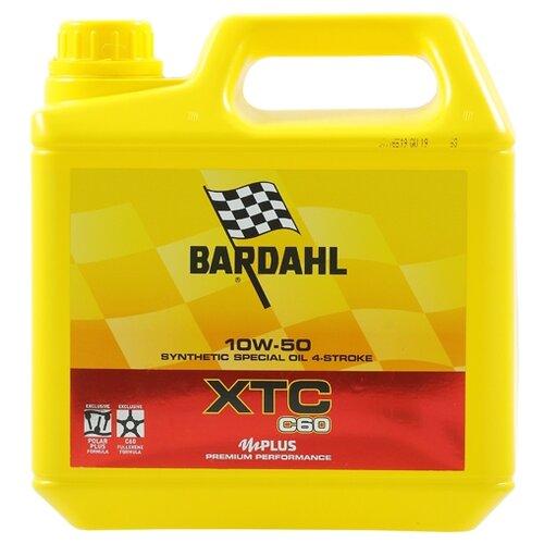 Фото - Синтетическое моторное масло Bardahl XTC C60 10W-50 Moto, 4 л синтетическое моторное масло bardahl xtc c60 off road 10w 40 1 л