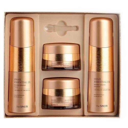 Купить Набор антивозрастной для лица The Saem Snail Essential EX Wrinkle Solution Skin Care Set