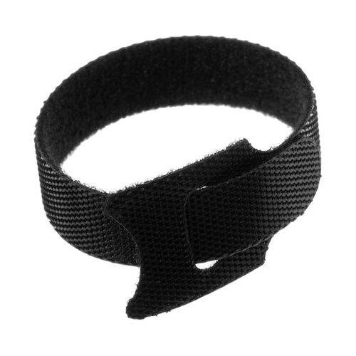 Лента-липучка для стяжки проводов набор 10 шт 15*12 см черная 5161554