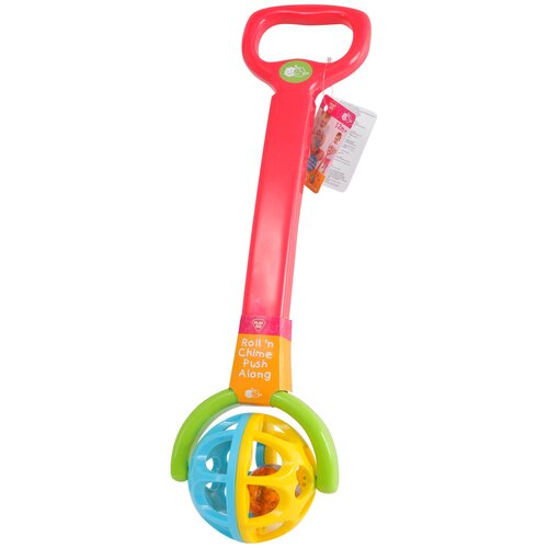 Купить Каталка-игрушка PlayGo Roll'n Chime Push Along (2838) со звуковыми эффектами красный/желтый/голубой, Каталки и качалки