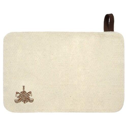 Банные штучки Коврик для сауны белый коврик для сауны банные штучки 41002
