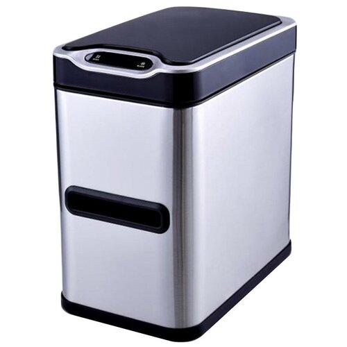 Ведро мусорное, сенсорное, внутр ведро, JAH-533, 7л (серебряный)
