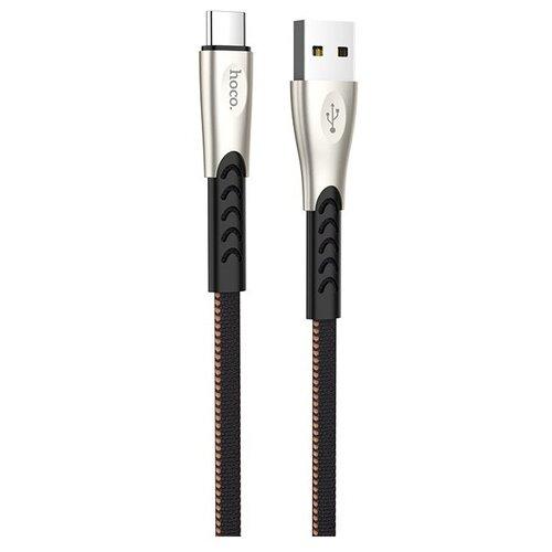 Фото - Кабель Hoco U48 Superior Speed USB - USB Type-C, черный, 1 м кабель hoco x24 pisces usb usb type c 1 м черный