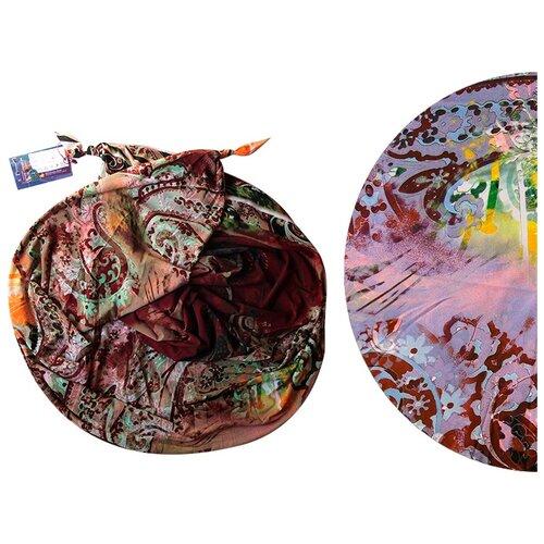 Двойной шарф-долька Оланж Ассорти серия Апрель с узелками желтый dolka-шелк-z-204