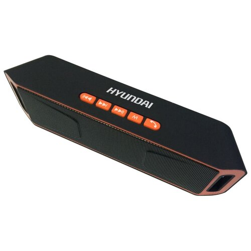 Портативная акустика Hyundai H-PAC160, черный / оранжевый