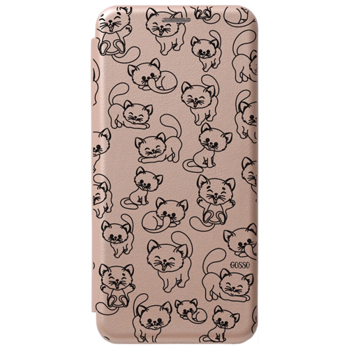 Чехол-книжка Gosso Book Art Jack для Samsung Galaxy A01 Core золотой Cute Kitties