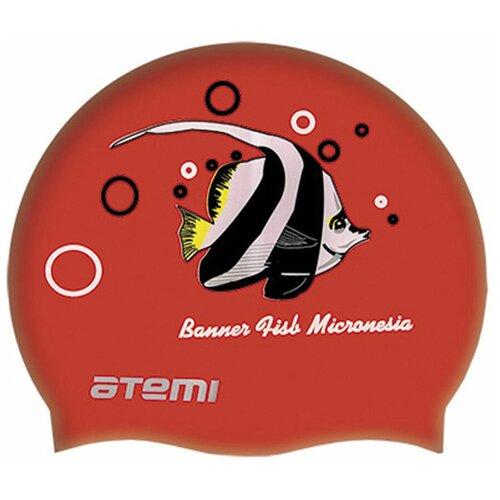 Фото - Шапочка для плавания ATEMI PSC404, красный аксессуары для плавания atemi шапочка для плавания графика psc422