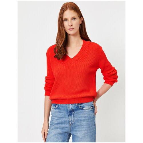 Пуловер KOTON, размер S(36), 420 красный