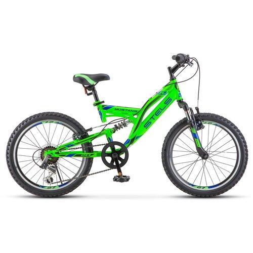 Подростковый горный (MTB) велосипед STELS Mustang V 20 V010 (2020) зеленый 13 (требует финальной сборки) велосипед stels 2612 v