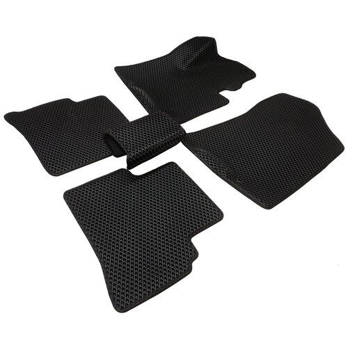 Автомобильные коврики салона Autodefender EVA для Hyundai Tucson 2015 - наст.время (компелект 5 шт) черный ромб с черным кантом