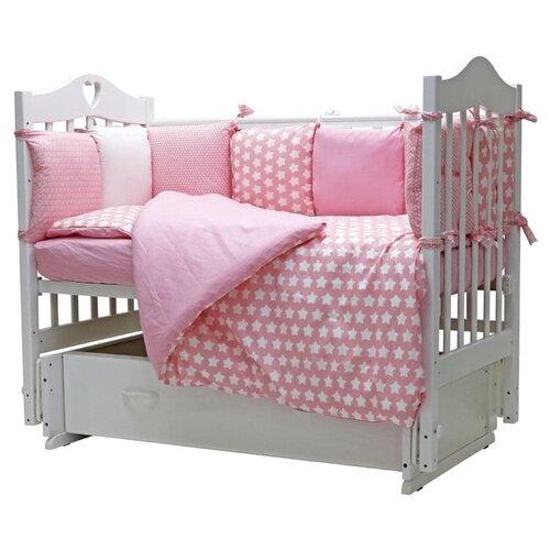 Купить Топотушки комплект в кроватку 12 месяцев (6 предметов) розовый, Постельное белье и комплекты