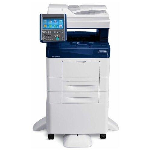 Фото - МФУ Xerox WorkCentre 6655, белый/синий мфу xerox workcentre 6515n белый синий