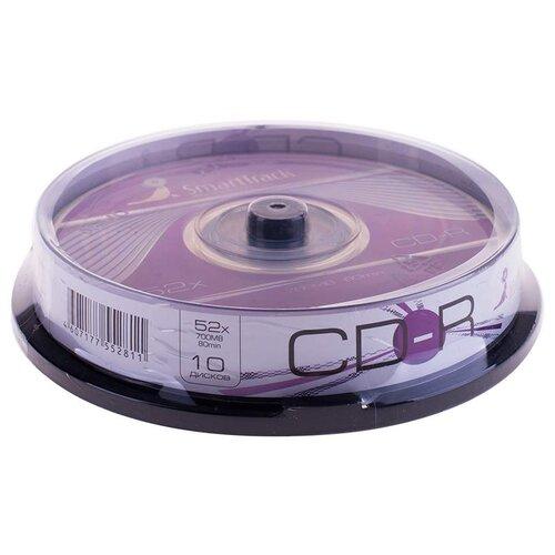 Фото - Диск CD-R SmartTrack 700Mb 52x 10 шт. cake box оптический диск cd r verbatim 700mb 52x cake box 10шт 43437