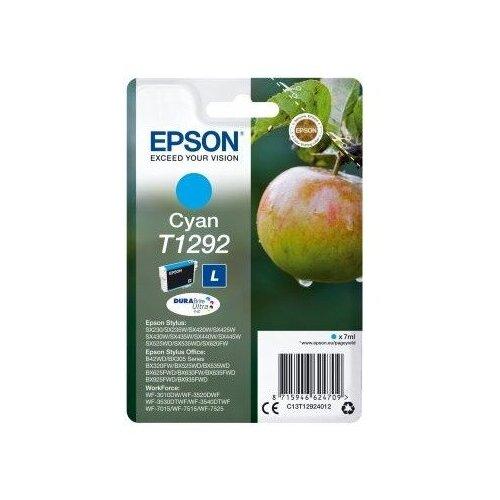 Фото - Струйный картридж Epson T1292 (C13T12924012) Cyan картридж струйный epson t04a4 c13t04a440 yellow