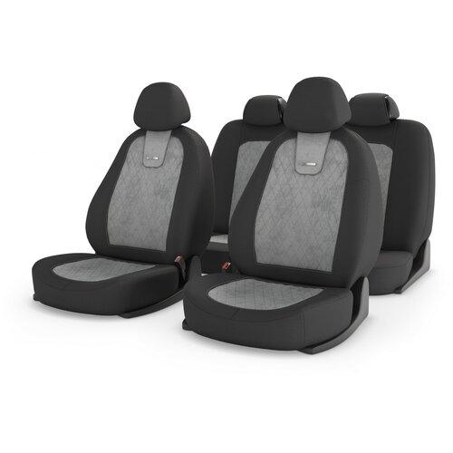 Универсальные чехлы на автомобильные сиденья CarFashion COLOMBO св.серый/т.серый/св.серый