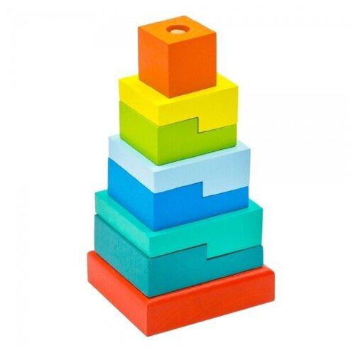 пирамидка alatoys ступеньки 8 деталей Пирамидка Ступеньки