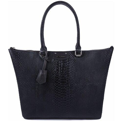 Вместительная женская сумка 2018028A K25/K51 nero Giorgio Ferretti с наплечным ремнем/Италия, 100% натуральная кожа