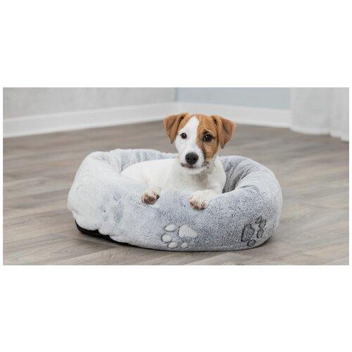 Лежак с бортиком, круглый, 50 х 40 см, светло серый, Trixie (лежак для животных, 37844, серия Nando)