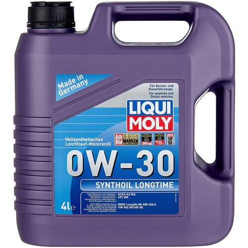 Синтетическое моторное масло LIQUI MOLY Synthoil Longtime 0W-30, 4 л по цене 5 639