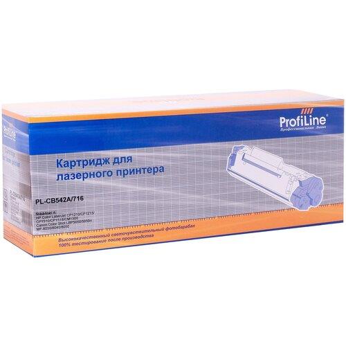 Картридж ProfiLine PL-CB542A-Y, совместимый
