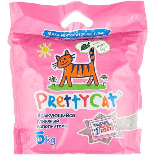 Комкующийся наполнитель PrettyCat Euro Mix с ароматом алоэ вера, 5 кг