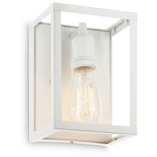 Настенный светильник IDEAL LUX Igor AP1 Bianco, E27, 60 Вт, кол-во ламп: 1 шт., цвет арматуры: белый, цвет плафона: бесцветный настенный светильник ideal lux flash ap1 bianco