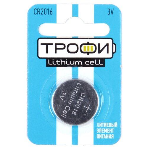 Фото - Батарейка ТРОФИ CR2016, 1 шт. батарейка трофи cr1616 1 шт