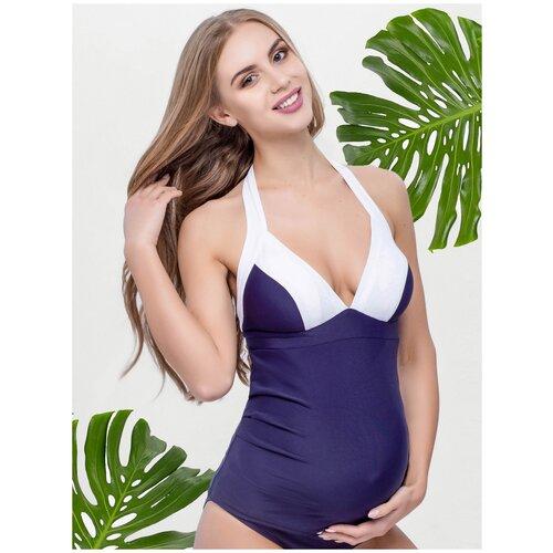 Купальник Yula mama танкини Miami т-синий для беременных (L(48))